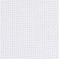 Tela Aida, medidas 50x50 cm, 70 cuadrados por 10 cm , blanco, 1 ud
