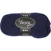 Lana para tejer , L. 200 m, azul oscuro, 50 gr/ 1 bola