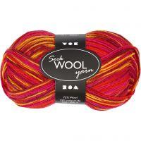 Lana para tejer , L. 200 m, rojo / naranja, 50 gr/ 1 bola