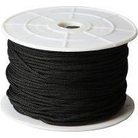 Cuerda poliéster, grosor 2 mm, negro, 50 m/ 1 rollo