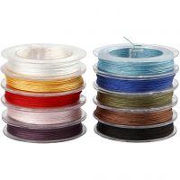 Cuerda de poliester, grosor 1 mm, surtido de colores, 10x50 m/ 1 paquete