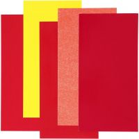 Color Dekor, rojo / naranja / amarillo, 5 hojas stdas/ 1 paquete
