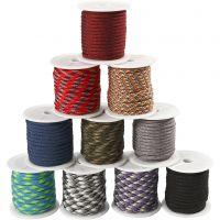 Cuerda de nylon, A: 5 mm, surtido de colores, 10x10 m/ 1 paquete