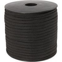 Cuerda de nylon, A: 5 mm, negro, 50 m/ 1 rollo