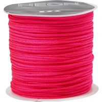 Cuerda de nylon, grosor 1 mm, rosa neón, 28 m/ 1 rollo