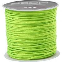 Cuerda de nylon, grosor 1 mm, verde neón, 28 m/ 1 rollo