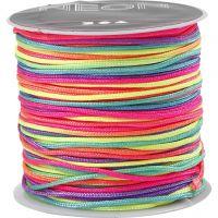 Cuerda de nylon, grosor 1 mm, colores neón, 28 m/ 1 rollo