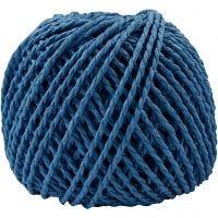 Hilo de papel, grosor 2,5-3 mm, azul oscuro, 40 m/ 1 bola, 150 gr
