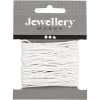 Cuerda de nylon, grosor 1 mm, blanco, 10 m/ 1 rollo