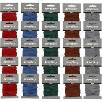 Cuerda de nylon, grosor 2 mm, surtido de colores, 5x5 paquete/ 1 paquete