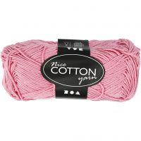 Lana de algodón, medida 6S/4, L. 165 m, rojo claro, 50 gr/ 1 bola