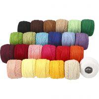 Hilo de algodón mercerizado , surtido de colores, 24x20 gr/ 1 paquete