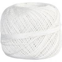 Hilo de algodón mercerizado , blanco, 20 gr/ 1 bola