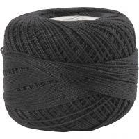 Hilo de algodón mercerizado , negro, 20 gr/ 1 bola