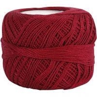 Hilo de algodón mercerizado , rojo antiguo, 20 gr/ 1 bola