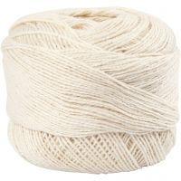 Hilo de algodón mercerizado , blanquecino, 20 gr/ 1 bola