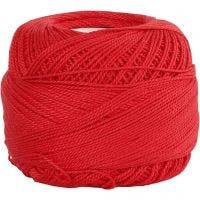 Hilo de algodón mercerizado , rojo, 20 gr/ 1 bola