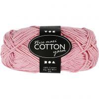 Lana de algodón, medida 8/8, L. 80-85 m, medidas maxi , rosa antiguo, 50 gr/ 1 bola