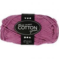 Lana de algodón, medida 8/8, L. 80-85 m, medidas maxi , violeta, 50 gr/ 1 bola