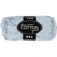 Lana de algodón, medida 8/8, L. 80-85 m, medidas maxi , azul claro, 50 gr/ 1 bola
