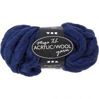 Hilo grueso de acrílico/lana, L. 15 m, medidas mega , azul oscuro, 300 gr/ 1 bola