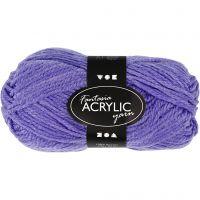 Fantasia lana acrílica, L. 80 m, morado, 50 gr/ 1 bola