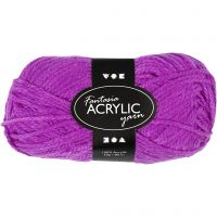 Fantasia lana acrílica, L. 80 m, ciclamen, 50 gr/ 1 paquete