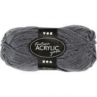 Fantasia lana acrílica, L. 80 m, gris, 50 gr/ 1 bola