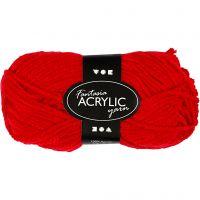 Fantasia lana acrílica, L. 80 m, rojo, 50 gr/ 1 bola