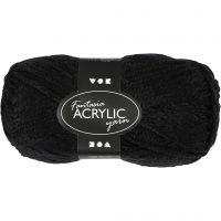 Fantasia lana acrílica, L. 80 m, negro, 50 gr/ 1 bola