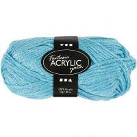 Fantasia lana acrílica, L. 80 m, turquesa, 50 gr/ 1 bola
