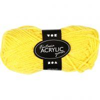 Fantasia lana acrílica, L. 80 m, amarillo, 50 gr/ 1 bola