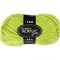 Fantasia lana acrílica, L. 80 m, verde claro, 50 gr/ 1 bola