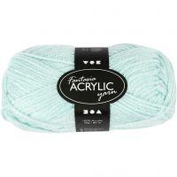 Fantasia lana acrílica, L. 80 m, verde menta, 50 gr/ 1 bola