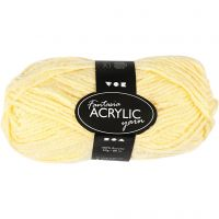Fantasia lana acrílica, L. 80 m, amarillo claro, 50 gr/ 1 bola