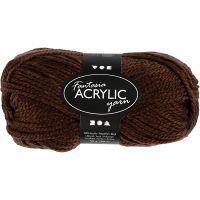 Fantasia lana acrílica, L. 80 m, marrón, 50 gr/ 1 bola