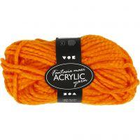 Fantasia lana acrílica, L. 35 m, medidas maxi , naranja neón, 50 gr/ 1 bola