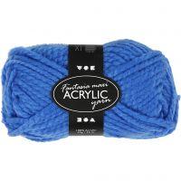 Fantasia lana acrílica, L. 35 m, medidas maxi , azul, 50 gr/ 1 bola