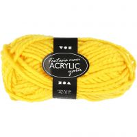 Fantasia lana acrílica, L. 35 m, medidas maxi , amarillo, 50 gr/ 1 bola