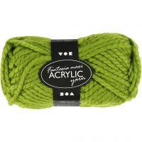 Fantasia lana acrílica, L. 35 m, medidas maxi , verde, 50 gr/ 1 bola