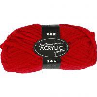 Fantasia lana acrílica, L. 35 m, medidas maxi , rojo, 50 gr/ 1 bola
