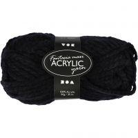 Fantasia lana acrílica, L. 35 m, medidas maxi , negro, 50 gr/ 1 bola