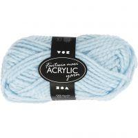 Fantasia lana acrílica, L. 35 m, medidas maxi , azul claro, 50 gr/ 1 bola