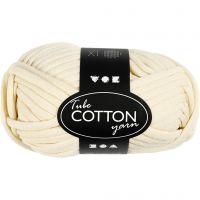 Lana tubular de algodón, L. 45 m, blanquecino, 100 gr/ 1 bola