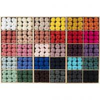 Hilo de algodón, medida 8/4, L. 170 m, surtido de colores, 300 bola/ 1 paquete