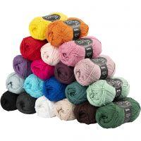 Hilo de algodón, medida 8/4, L. 170 m, El contenido puede variar , surtido de colores, 20x50 gr/ 1 paquete