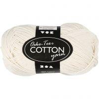 Hilo de algodón, medida 8/4, L. 170 m, blanquecino, 50 gr/ 1 bola