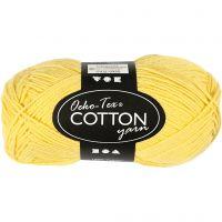 Hilo de algodón, medida 8/4, L. 170 m, amarillo, 50 gr/ 1 bola