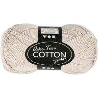 Hilo de algodón, medida 8/4, L. 170 m, arena, 50 gr/ 1 bola