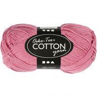 Hilo de algodón, medida 8/4, L. 170 m, rosado oscuro, 50 gr/ 1 bola